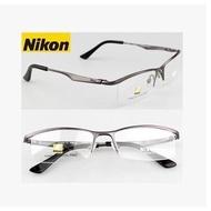 [小時光]Nikon 純鈦架男款眼鏡框 近視純鈦半框眼鏡架 配平光防輻射