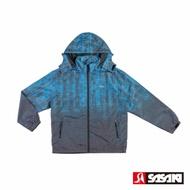 SASAKI 夜間反光防潑水功能平織運動夾克-男-法瓷藍/亮藍-防疫居家運動首選