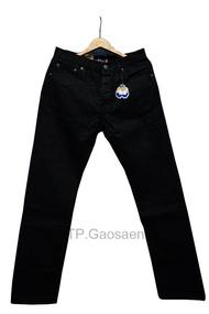 กางเกงยีนส์ ขากระบอก Justin(จัสติน) สีดำ ของแท้ 100 % ‼️ ผ้าหนา ใส่ทน