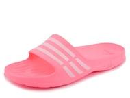 ADIDAS DURAMO SLIDE 拖鞋 女鞋 海灘 防水 粉紅 白 【運動世界】 B35947