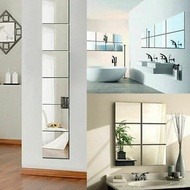 6.6 Product HOT Wall Stickers Glass Mirror 9 Pcs Mirror Wall Sticker Wallpaper Mirror Sticke