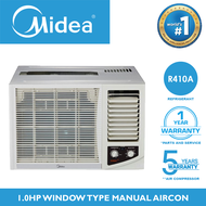 MIDEA 1HP Aircon HIGH EER 10.7 R410A Inverter Grade Refrigerant Energy Saving Efficient For 12-18 SQM Small Room Airconditioner / Air Conditioner Window Type Manual Non-Inverter AC Unit NO TIMER FP-51ARA010HMNV-N5 Home Appliances on Sale