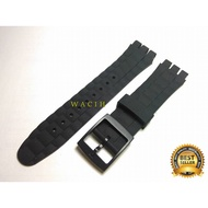 Swatch 21 Black Strap Swatch 21mm Watch Strap