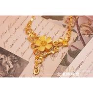 典雅花朵款 黃金項鍊 金飾項鍊 純金項鍊 G012224 重5.92錢 板橋金進鋒珠寶金飾