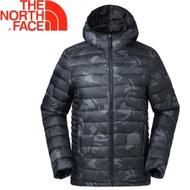 【The North Face 男款 700fp 連帽羽絨外套《黑印花》】羽絨外套/外套/保暖外套/35E7XZN