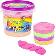 Rainbow Bouncing Putty - Assorted Rainbow Fluffy DIY Slime, In Jumbo Bucket, For Kids Sensory Toy Party Favor, Stocking Stuffer and Goodie Bag Filler
