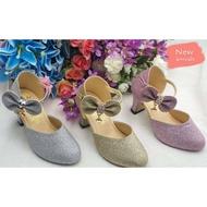 SALE!! รองเท้าคัชชูส้นสูงสำหรับเด็กผู้หญิง รองเท้าแฟชั่น น่ารัก ใส่สบาย มี 3 สีให้เลือก ไชส์ 31-36
