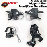 [COD] LTWOO A7 3x10 Speed Front/Rear Derailleur+Trigger Shifter lever groupset for MTB mountain bike Compatible with Shimano alivio m4000 DEORE m590 LTWOO Groupset t 10Speed GEU