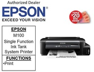 Epson M100 EcoTank (MONO) Printer (print only ** Free $20 NTUC Voucher Till  2nd Mar 2019  ** M 100