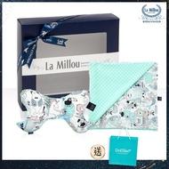 【La Millou】安撫禮盒_天使枕+單面巧柔豆豆毯標準款-附贈送禮提袋(多款可選_彌月禮盒)
