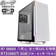 技嘉B550平台[山海異士]R7八核RTX 3060 Ti獨顯電玩機