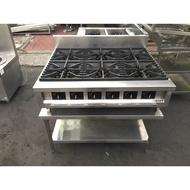 年強二手家具-廣福-六口西餐爐(天然氣 16芯)*西餐爐*西餐火爐  191102004