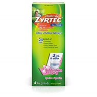 ▶$1 Shop Coupon◀  Zyrtec Children s 24 Allergy Syrup Bubble Gum - 4 oz, Pack of 4