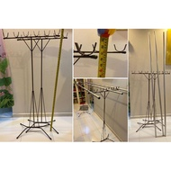 clothes hanging bamboo stand Folding clothes rack Stainless Steel  # drying rack # 7ft Aluminium bamboo pole