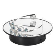 USB電動轉盤 攝影台 靜物台 電動旋轉展示台 360度旋轉 珠寶首飾展示架 拍攝道具