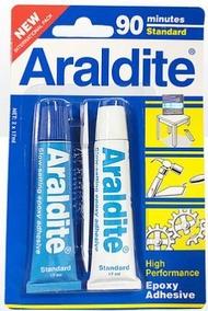 ARALDITE®  Epoxy Adhesive STANDARD (BLLUE) 90mins - 2 Tubes x 17 ML
