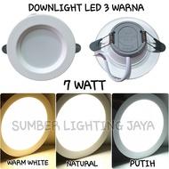 Ldi 7w Led Downlight 3 Colors 220volt / Downlight Led Inbow 7 Watt