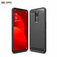 Carbon Fibre Case For OPPO F11 Brushed Slim Armor For OPPO R11 R11S plus R15 R17 Pro Realme2 3 5 pro XT Reno  z 10x Shockproof Soft Rubber Silicone Phone Case Cover