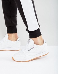 Reebok Classic Leather Sneakers In White 49799