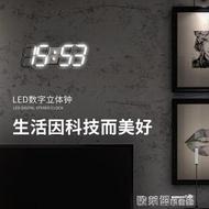迷你小電子鐘 大尺寸3D led數字時鐘電子鐘數字掛鐘客廳掛鐘鐘表創意時鐘 歐萊爾藝術館