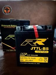 แบตเตอรี่ RR JT7L-BS (แท้) สำหรับรถรุ่น KAWASAKI : KLX140 ,EX250 Ninja ,D-TRACKER 150, D-TRACKER 250, EL 250 , ZZ-R (EX250)/YAMAHA : R3/HONDA : CMA 125 REBEL , CMX 125 ,NX 125 TRANSCITY  และรุ่นอื่นๆ