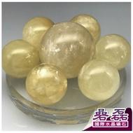 黃冰晶 財運 旺旺 七星陣 水晶球《碞磊國際水晶礦石》【編號】F9DYE0001