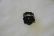 Anna Sui風格薔薇戒指---黑色薔薇款 交換 換物