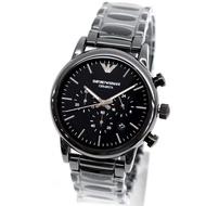 歐美代購 EMPORIO ARMANI AR1507 亞曼尼 手錶 46mm 黑色陶瓷 三眼計時 錶錶