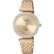 Citizen Gold Stainless Steel Quartz Ladies Watch ER0213-57X