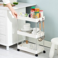 Kitchen Household Shelf Small Trolley