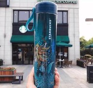 【H-SHOP】Starbucks 星巴克 美人魚款藍色 不鏽鋼保溫杯*500ml。X00211