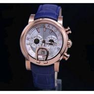 Aigner Bari Watches Super Premium Graden AAA Leather Strap - Aigner Bari Blue Leather Strap Watches