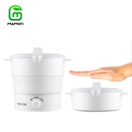 Mamon หม้อสุกี้ไฟฟ้า Travel Foldable Electric Hot Pot Cooker,Mini Portable Kettle,Food Grade Silicone Cooker,Fast Water Boiling ZDG1