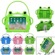 Kids Silicone Shockproof Case For iPad 2/3/4 Frog Shape Children Safe Tablet Protect Cover Stand Case For Apple iPad Pro 9.7inch For iPad mini 1/2/3/4 For iPad 5 (iPad Air 1) For iPad 6 (iPad Air 2) For iPad 9.7 2017/2018