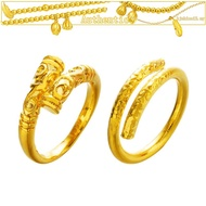 Pure gold hot sale Golden hoop couple ring Monkey emas 916 tulen bajetKing curse ring for men and women, explosive supreme treasure ring