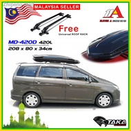 ﹍✸Taka Roof Box MD-420D Ultra Slim 420 Liter Storage Carrier Roofbox w FREE Rack Universal