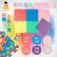 黃金屋地墊 台灣製造 繽紛地墊 32*32*1cm(一包9片)