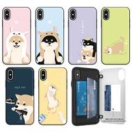 柴犬家族 防摔側開卡夾 手機殼│iPhone 7 8 Plus SE 2020│z8922