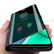 luxury smart mirror flip case for oppo a9 2020 stand phone cases for oppo a9 a5 2020
