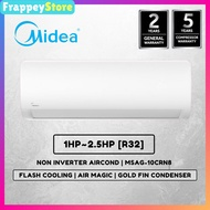 [Frappey] Midea Air Conditioner 1HP~2.5HP Non-Inverter/ Inverter (MSAG-10CRN8)(MSXS-10CRDN8)[PWP Aircond Installation]