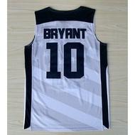 美國隊奧運會球衣 夢十#10號 KOBE BRYRNT柯比 科比 刺繡 夢之隊籃球衣 白色