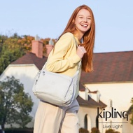 【KIPLING】探索亮銀灰多袋實用側背包-GABBIE