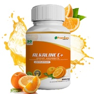 Premium Alkaline C Vitamin 30 capsules 500mg (NO BOX) with ZINC Sodium Ascorbate Calcium Ascorbate RoseHip Guava extract immune system booster e pampataba for kids and adult daily protections Alkaline C 24 Original Vitamin C Alkaline C Vitamin C3