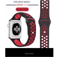 มี 10 สี สาย Nike Sport สำหรับ นาฬิกา Apple Watch ทุกซีรีย์ 42mm 44mm - สายนาฬิกา Replacement Silicone Nike Sport Band for Apple Watch Series 5 4 3 2 1 42mm. 44mm. S/M M/L