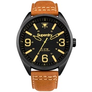 Superdry Military SYG199TB Analog Quartz Brown Leather Mens Watch