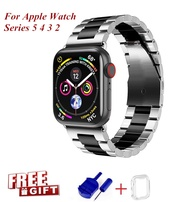 ProBefit Stainless Steel Strap For Apple Watch Band 44mm 40mm 38mm 42mm Fashion Metal Sport Bracelet Stainless Steel Strap For i Watch Series5 4 3 2 1 Watchband Free Gift