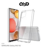 【愛瘋潮】免運 手機殼  QinD SAMSUNG Galaxy A42 5G 雙料保護套 高透光 PC硬背殼 手機殼 背蓋