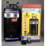 Avcrowns Karaoke CH-126 Wireless Bluetooth Speaker / Rechargeabe / P.M.P.O 10000W / 2 Wireless Microphone
