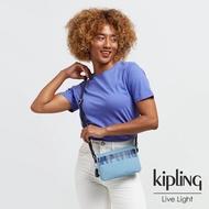 【KIPLING】天空藍三夾層配件包-CREATIVITY XB