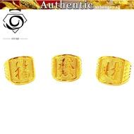 Domineering Ring Men's Dafu Fortune 916 Real Gold